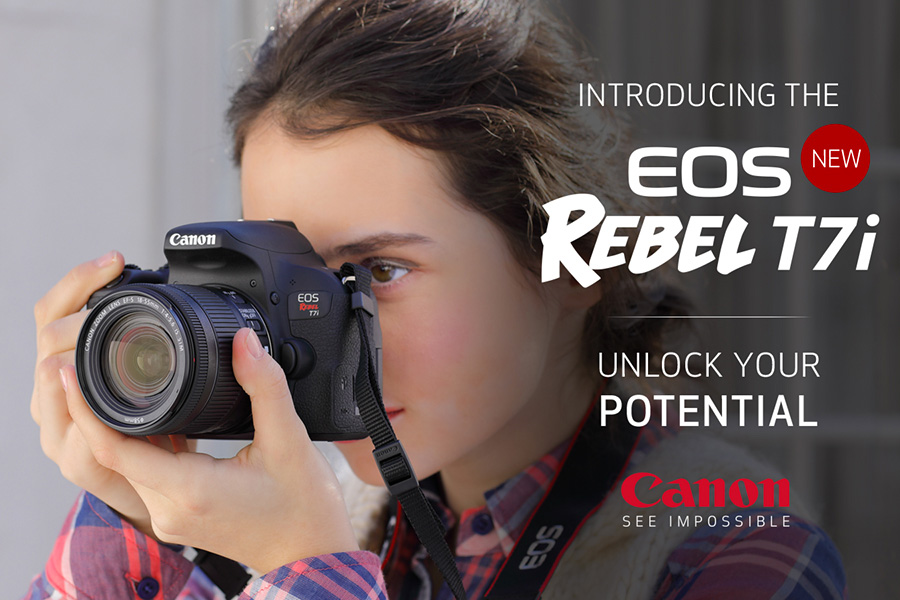 Canon EOS Rebel T7i New Entry Level DSLR with 45 Cross Type