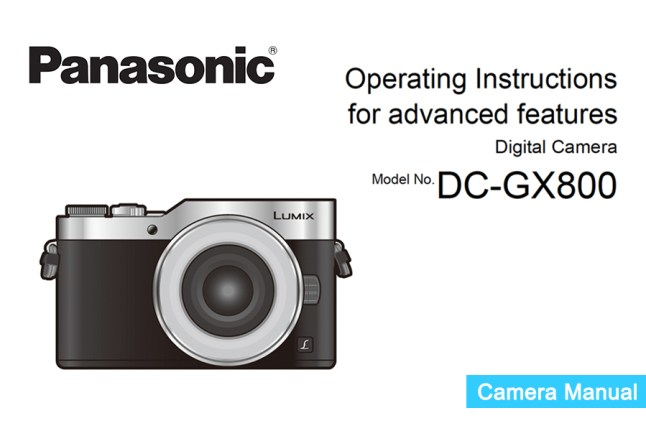 Panasonic Lumix DMC-GX800 Manual pdf