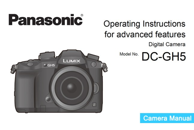Panasonic Lumix DMC-GH5 Manual