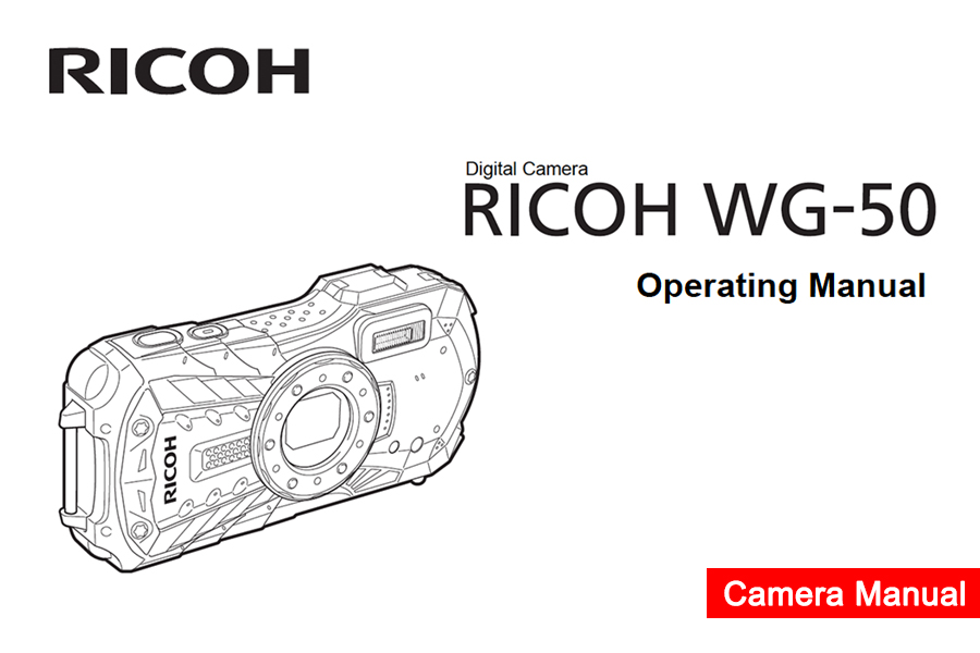 RICOH WG-50 Instruction or User's Manual Available for