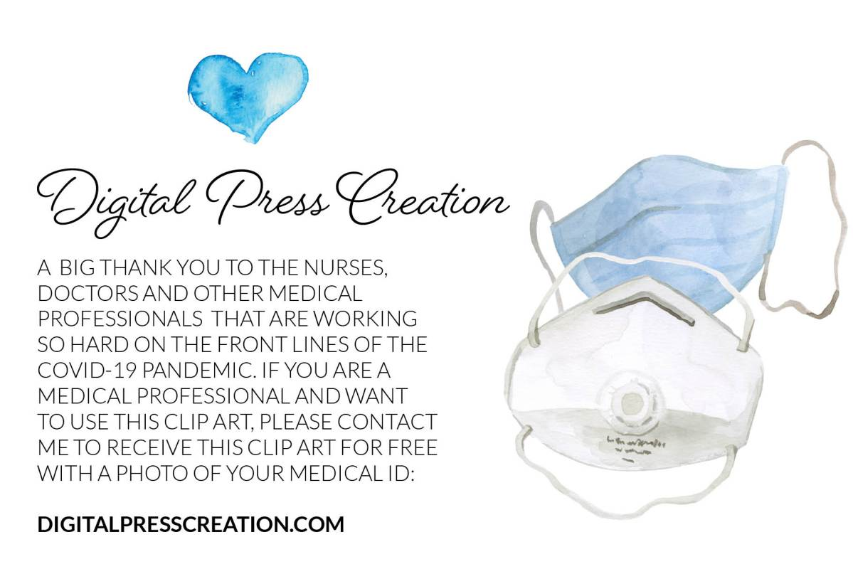 Free mask clipart for healthcare workers