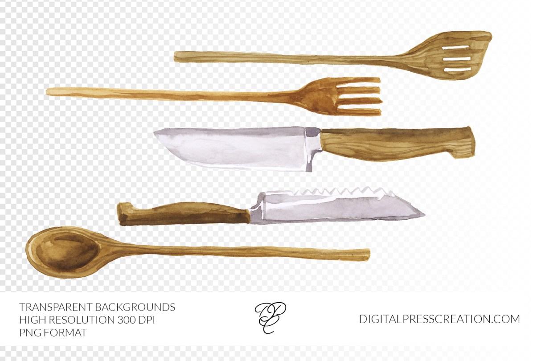 transparent spoon fork kitchen stirring knife PNG clipart