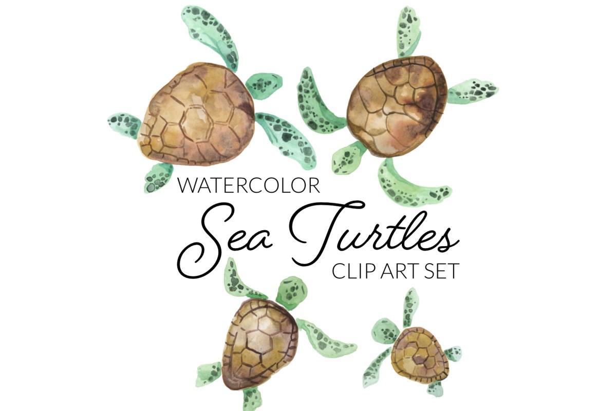 Watercolor Sea Turtles