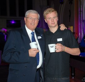 Surrey leader David Hodge at Bfree Youth Cafe, which won money to extend