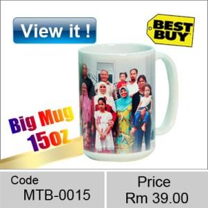 15 oz white mug