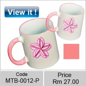 Color mug Rim Pink