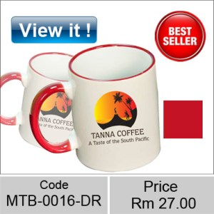 Color mug Rim Red