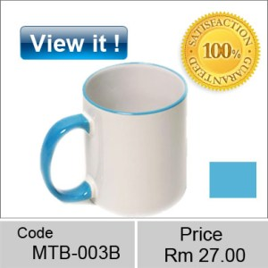 color mug Rim Blue