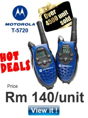 Motorola Talkabout T5720 Offer for only Rm140/unit