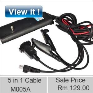 motorola walkie talkie USB programming M005A