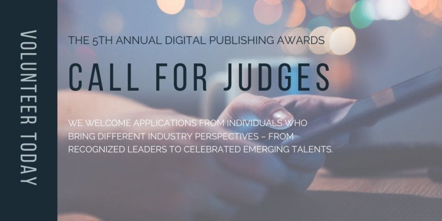 2020 Digital Publishing Awards Call for Judges.