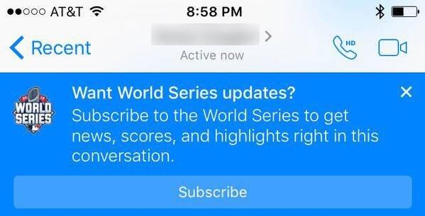 Facebook Messenger spor bülteni