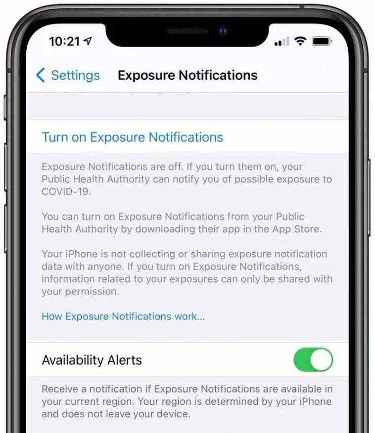 iOS 13.7, Maruz Kalma Bildirimleri özelliği ile yayında