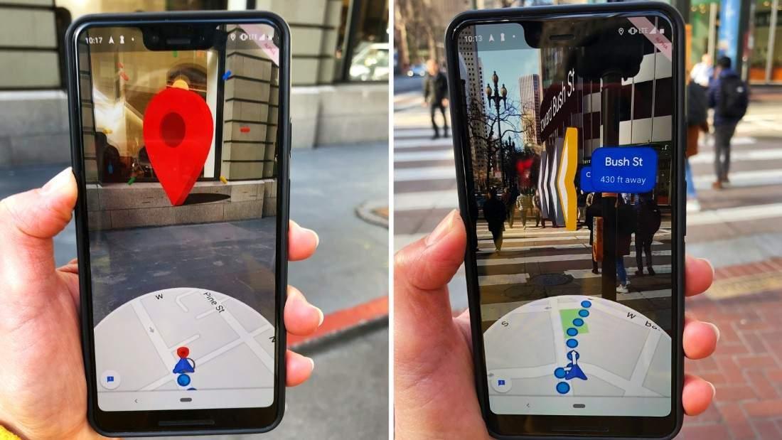 Google Haritalar, AR modunda şehrin popüler noktalarını gösteriyor