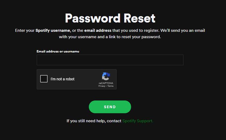 spotify sifre sıfırlama nasıl yapılır