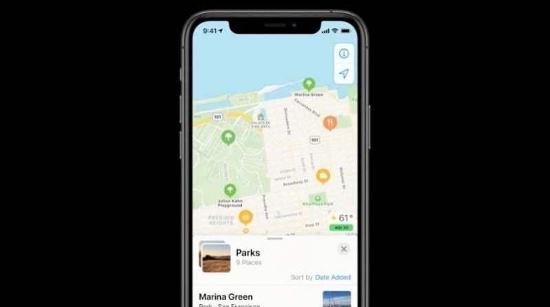 Apple Haritalar'da rehber bulma