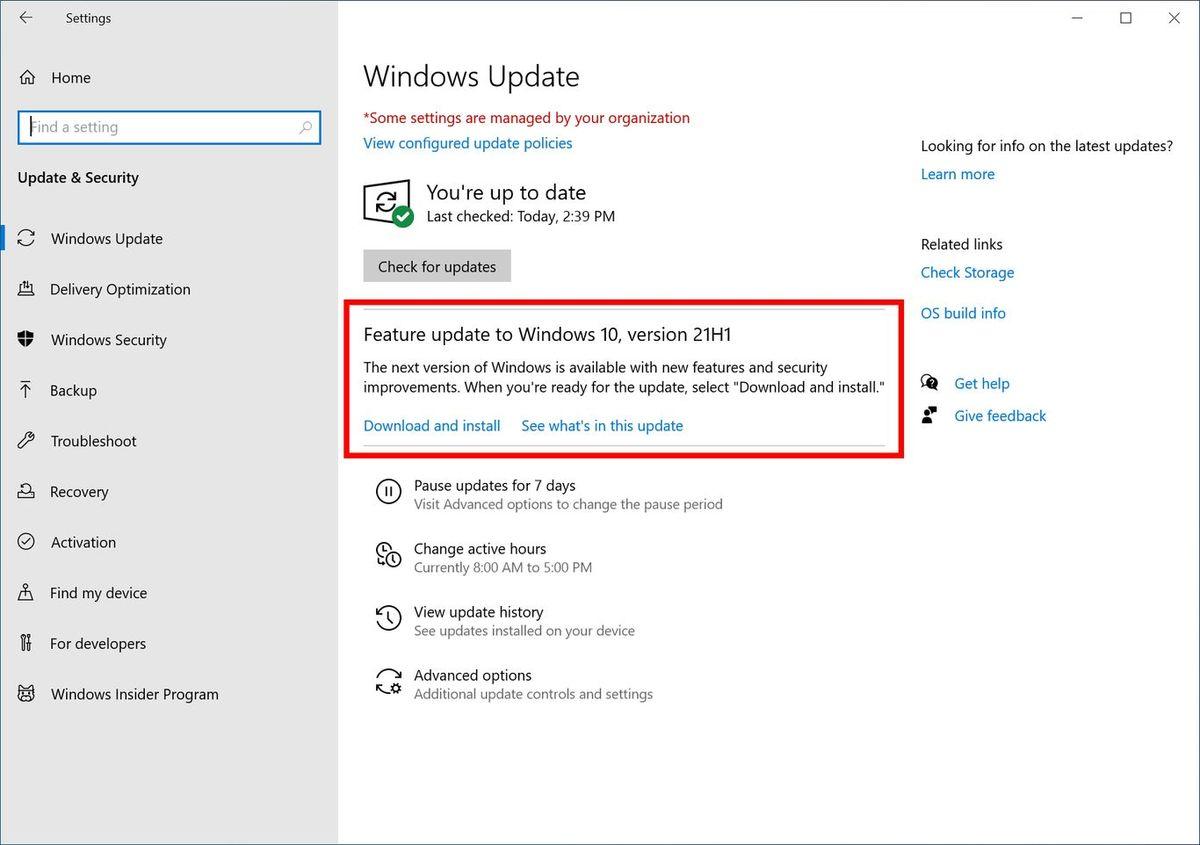 Windows 10 Mayıs 2021 Güncellemesi yakında geliyor