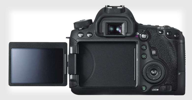 The 6D MkII has a vari-angle touchscreen which flips out from the body