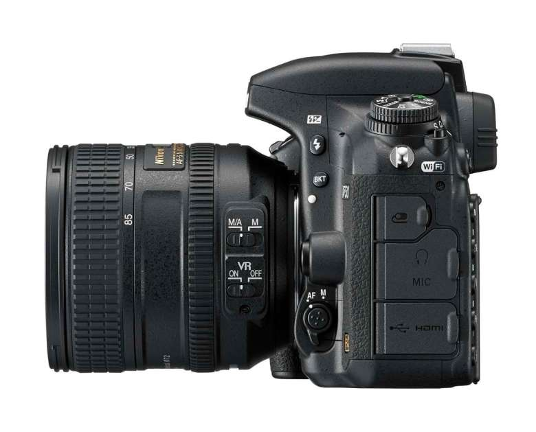 The D750 also records Full HD movies and includes both in and out audio ports