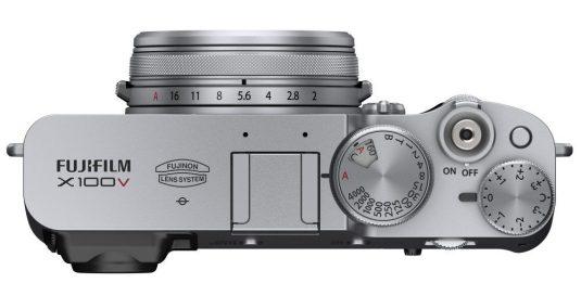 Vista superior de cámara Fujifilm X100V