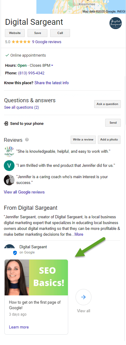 How to schedule posts on Google My Business (2020)