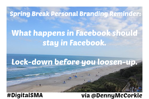 personal brand and facebook