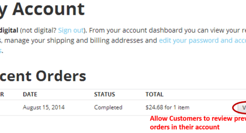 Customer Reorder from Account History