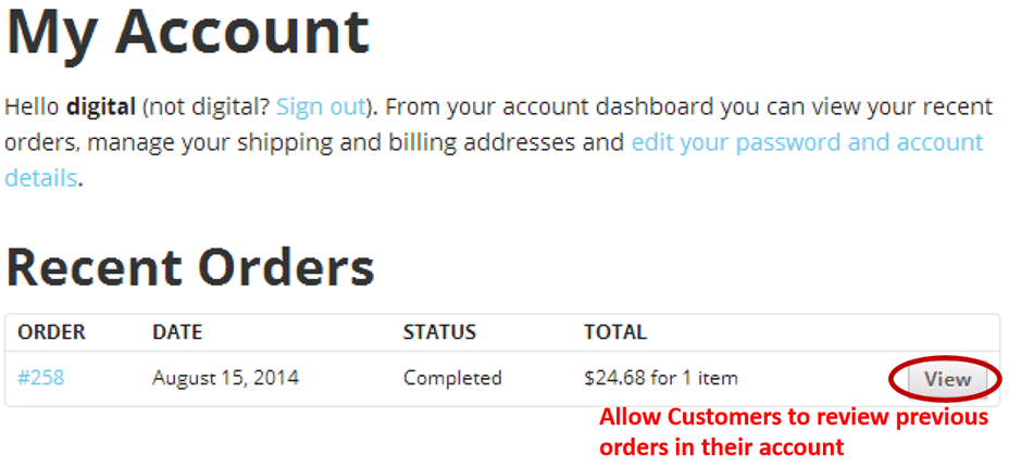 E-commerce Customer Reorder - Account History