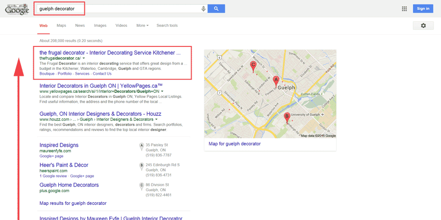 guelph local seo case study