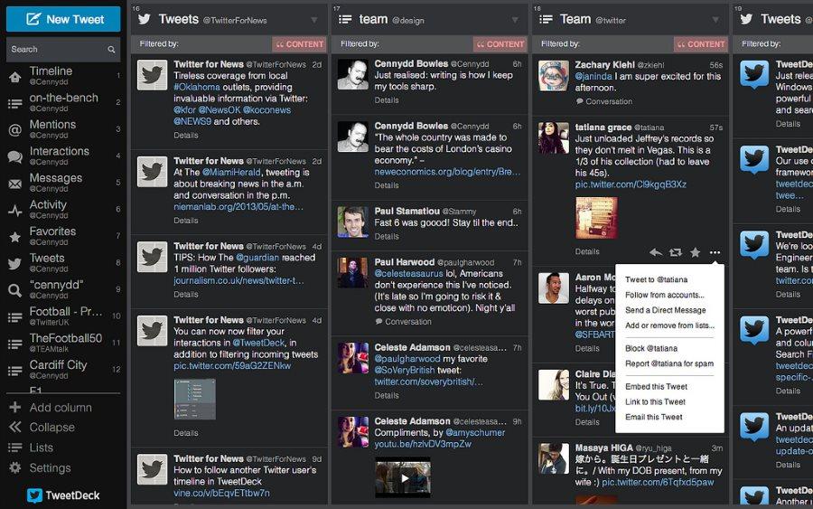 Antispam de Twitter y TweetDeck
