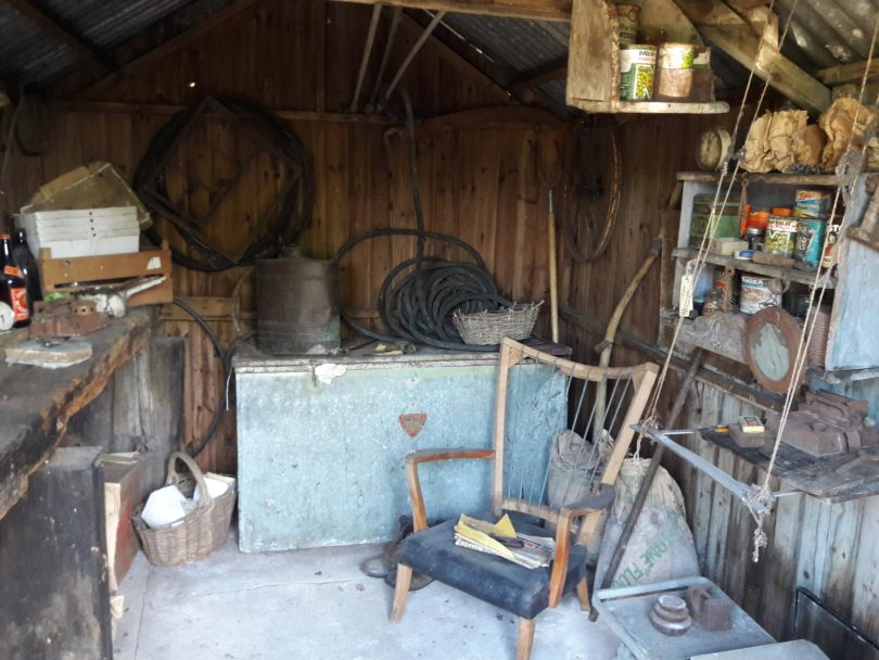 Inside a hovel