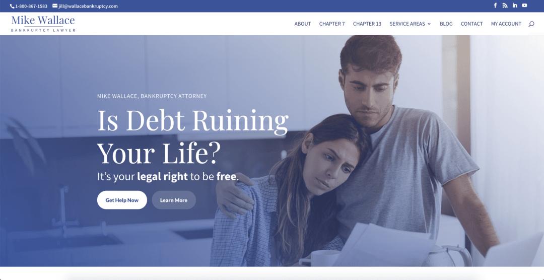 Bankruptcy Lawyer Website Design