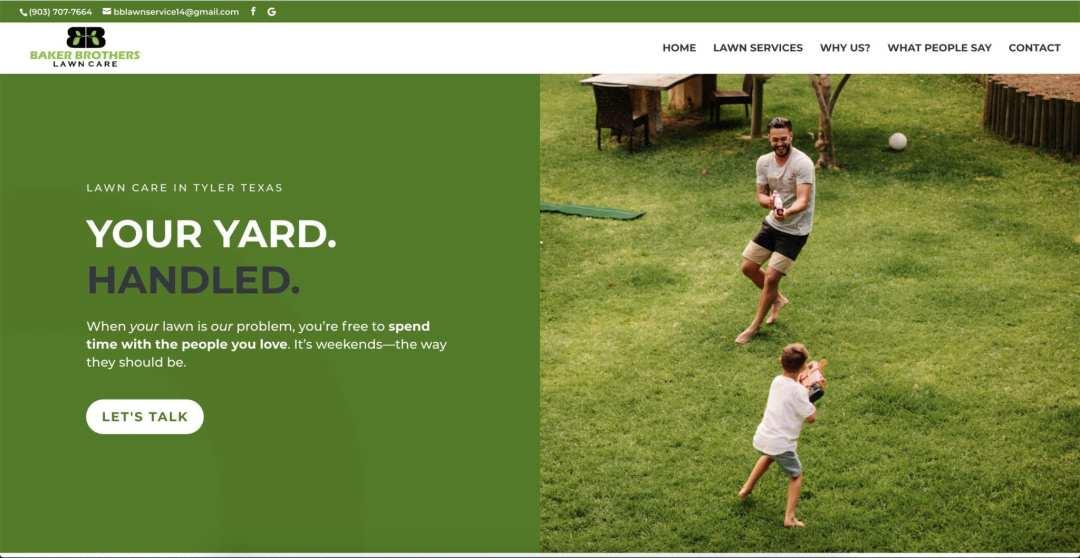 Lawn Care Service Web Design