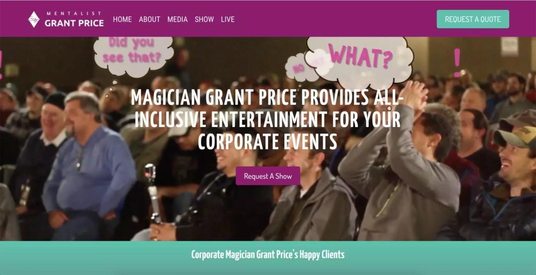 Entertainer Website Design