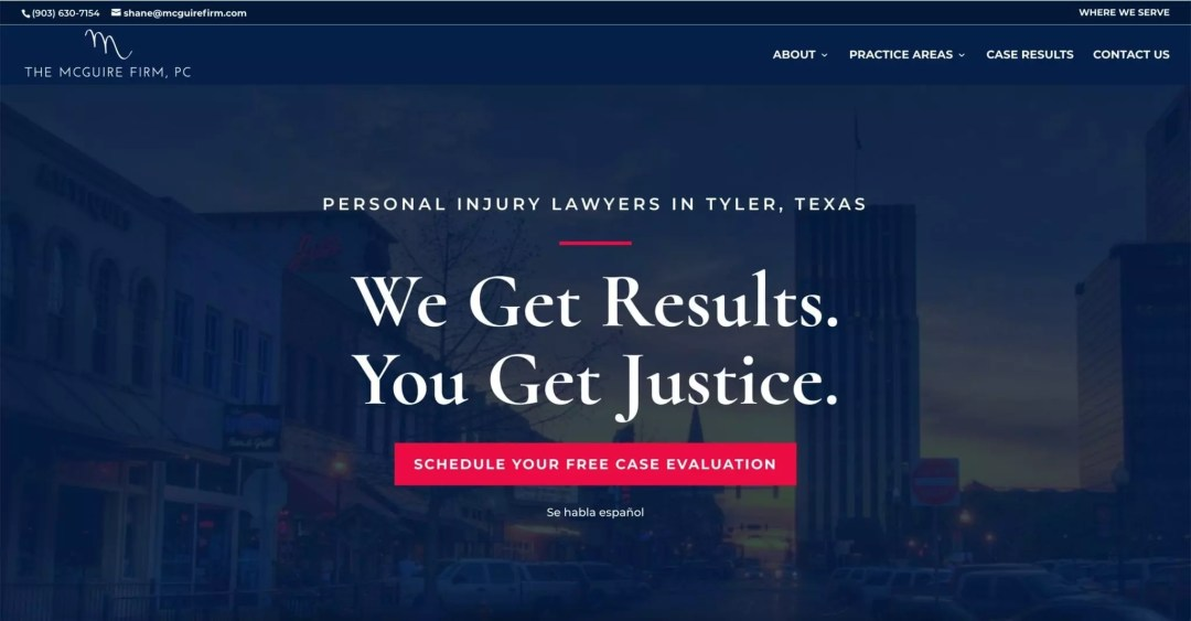 Web Design (McGuire Firm Personal Injury Attorneys)