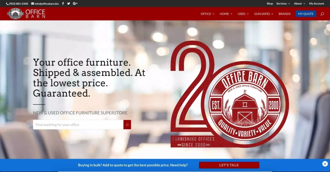 Web Design Project (Office Barn Office Furniture Store)