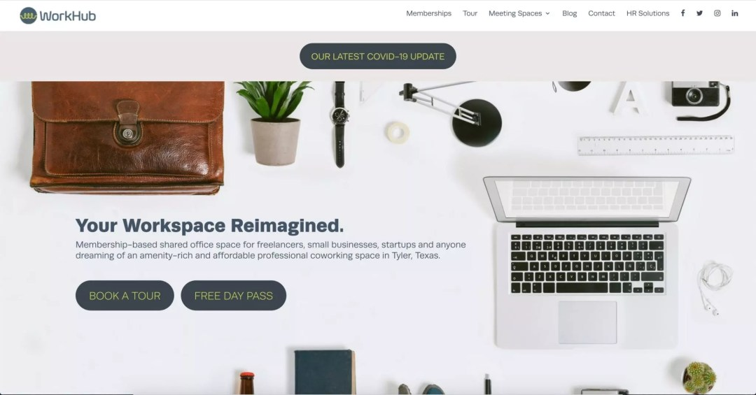 Web Design Project (WorkHub Coworking Space)