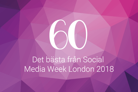 Podd 60 Det bästa från social media week London 2018