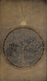 """""""Transverse view of the water, as it commenced togather and rotate upon the outside"""" illustration from """"God in nature and revelation"""" (1875)"""