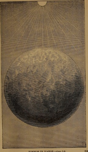 """Kosmos in vapor"" illustration from ""God in nature and revelation"" (1875)"
