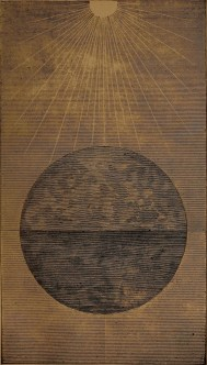 """A globe of water, holding earthy matter insolution"" illustration from ""God in nature and revelation"" (1875)"
