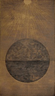 """""""A globe of water, holding earthy matter insolution"""" illustration from """"God in nature and revelation"""" (1875)"""