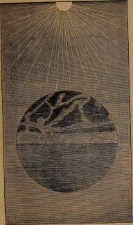 """Dry land appearing"" illustration from ""God in nature and revelation"" (1875)"