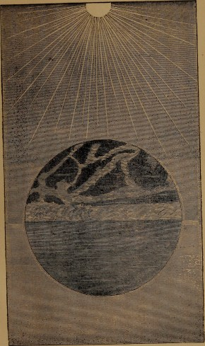 """""""Dry land appearing"""" illustration from """"God in nature and revelation"""" (1875)"""