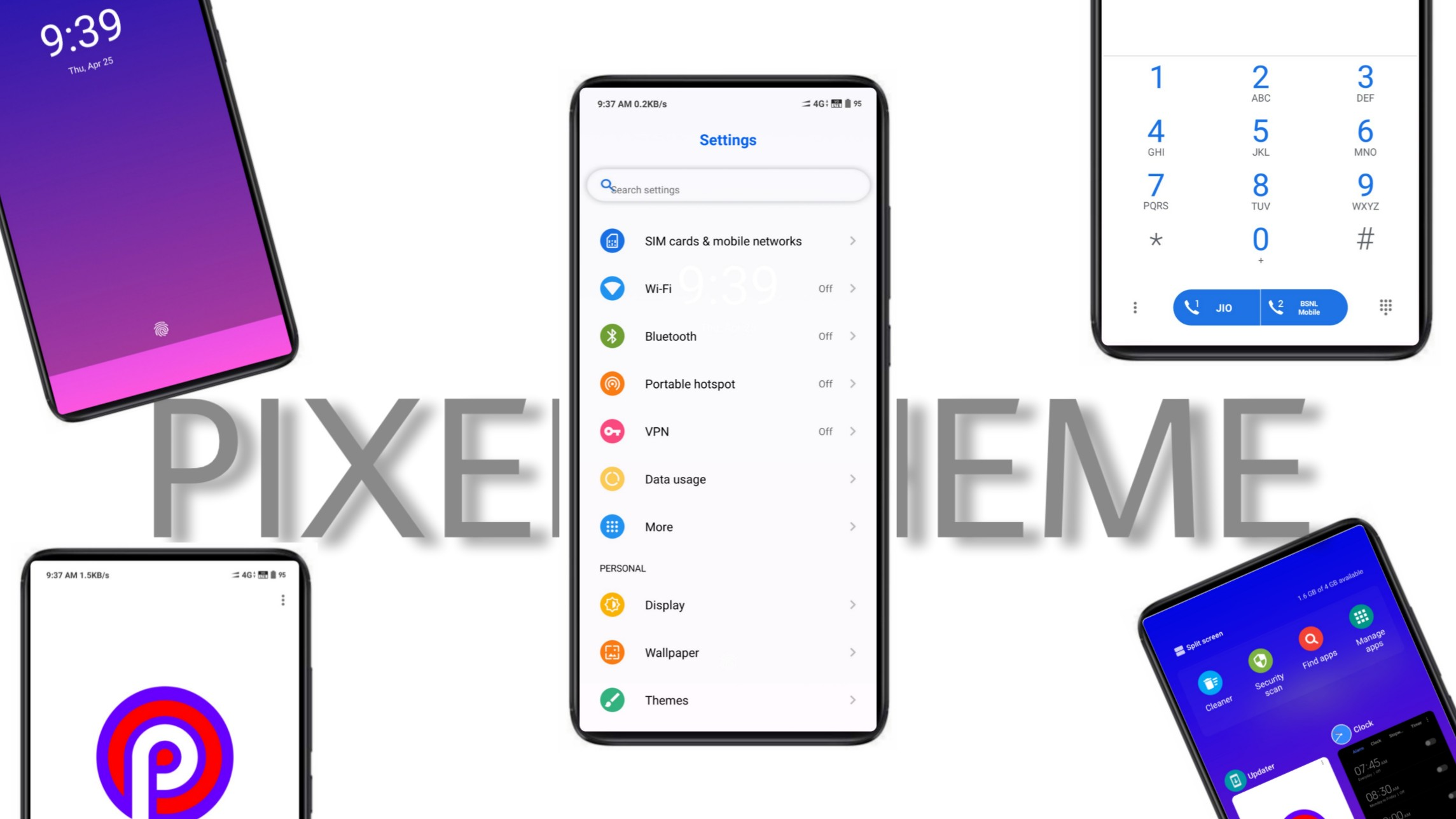 Best Theme for MIUI 10-PIXEL UI - Digital Sphere ONEPLUS 6T