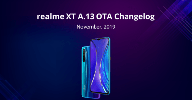 Realme XT: A.13 Update Rolling Out