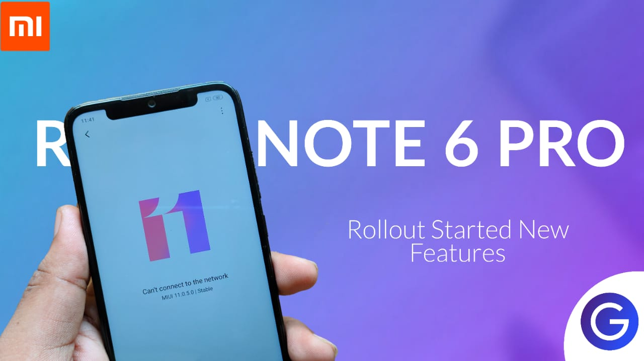 MIUI 11.0.1.0 Stable Update For Redmi Note 6 Pro- Download Link