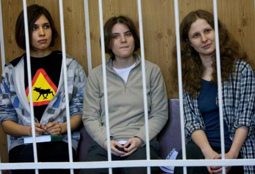 Image result for pussy-riot-members-jailed