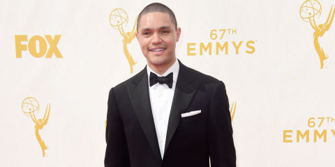Image result for Trevor noah wins emmy in LA