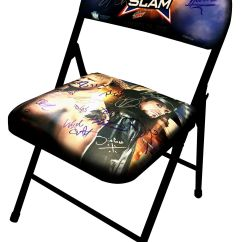 What Are Wwe Chairs Made Of Target Armless Accent Win A Money-can't-buy Summerslam 2015 Chair Signed By 21 Superstars